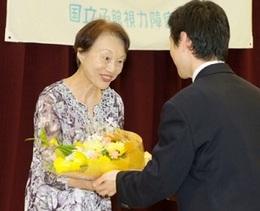 花束贈呈の写真