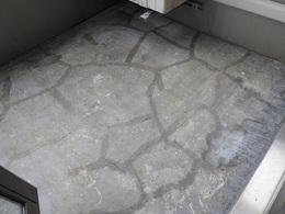 屋外階段防水改修工事 既存防水層はがし完了.jpg